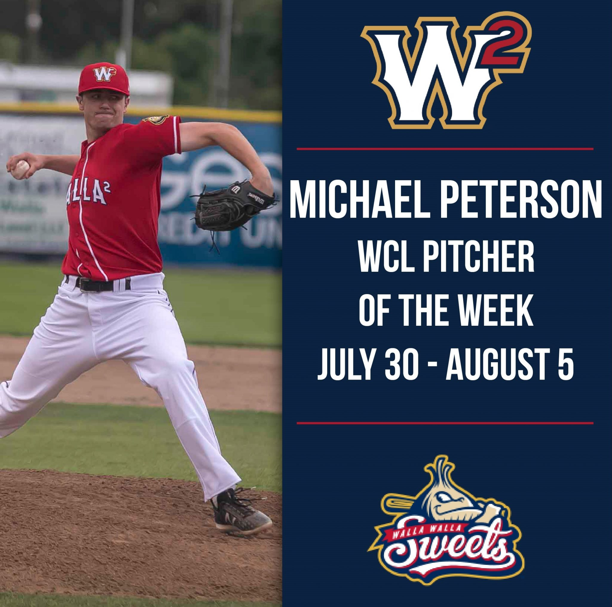 73fe5ddef30 Michael Peterson Named WCL Pitcher of the Week for July 3.