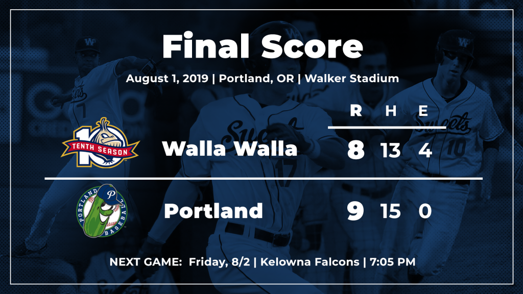 News - Walla Walla Sweets Baseball